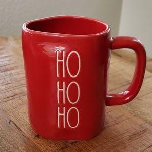 Rae Dunn Red Ho Ho Ho mug NWT